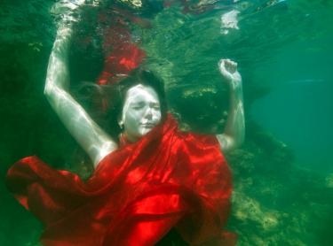 Women Who Get Wet exhibition - Tessa at Nightcliff beach