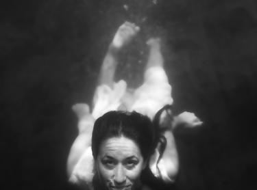 Women who get wet exhibition - Mel Balkan at Sandy Creek Falls