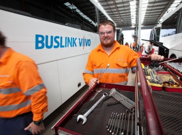Buslink Vivo operations at Howard Springs base and around Darwin. Various staff
