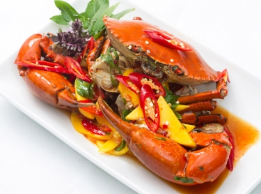 Seafood book - recipes by Steve Sunk. Northern Territory seafood, taken from pristine fisheries in northern waters. Chili mudcrab with mango