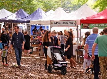 Sample food festival at Bangalow NSW - a venue for providors to show their wares - native foods