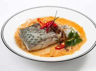 Seafood book - aquaculture barramundi - recipe by Steve Sunk. Barramundi coconut soup