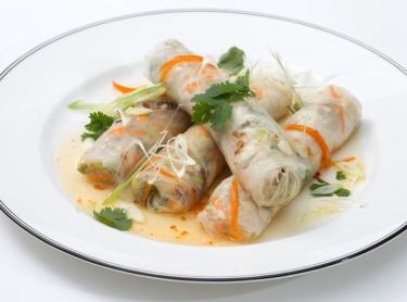 Seafood book - aquaculture barramundi - recipe by Steve Sunk. Vietnamese spring rolls