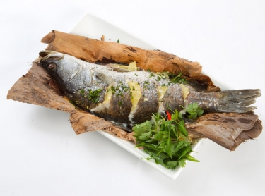 Seafood book - recipes by Steve Sunk. Northern Territory seafood, taken from pristine fisheries in northern waters. Baked farm barramundi in paperbark