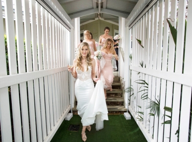 steph and Aiden are married at Verandahs, NSW. Nov 11, 2017