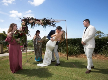 The wedding of Casey and Michael at Byron Bay, December 16, 2017