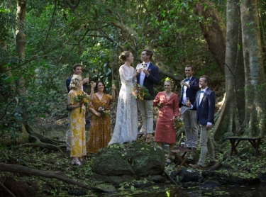 The wedding of Samantha and Paul at the Deaker property McLean's Ridges, NSW