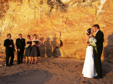 Tropical wedding in Darwin, northern australia - bridal party on the beach ceremony couple 538495 Photographer: David Hancock. Copyright: SkyScans