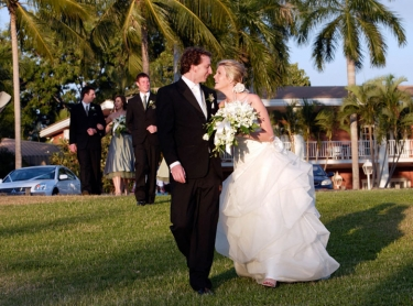 The wedding of Jaclyn and Jon at Cornucopia in Darwin, August 31 2007. Photographer: David Hancock. Copyright: SkyScans.