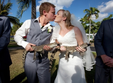 The wedding of Jess and Jeremy at Nightcliff, reception on Darwin Harbour.