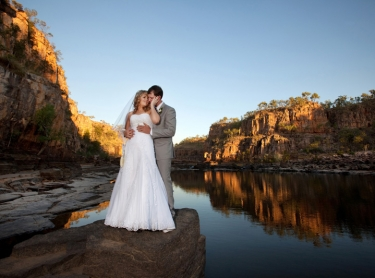 Monique and Glen are married in Katherine Gorge, Nitmiluk NP, 15 August 2010 - reception Katherine Museum