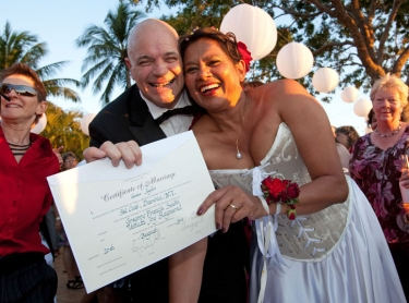 The wedding of Ursula and Greg at the Ski Club in Darwin Aug 20, 2011