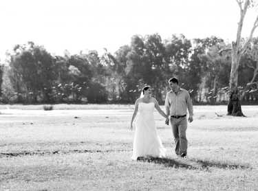 The wedding of Shandell and Glenn at the Wildman River Resort, on the floodplains