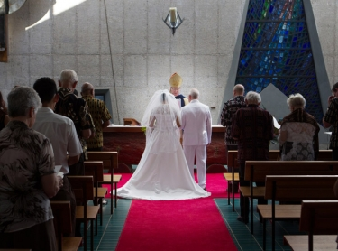 The wedding of Ken and Naomy in Darwin at Christchurch Cathedral