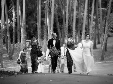The wedding of Reah and Alfredo at St Paul's Catholic Church, Nightcliff - reception at Darwin's Botanical Gardens. July 16 2016