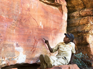Warddeken Land Management rangers conduct a rock art survey and photograph bim. Directed by Claudia Cialone