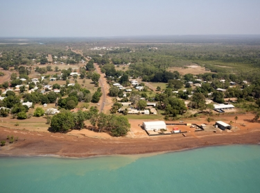 The Indigenous Land Corporation (ILC) launches its Savanna Fire Management Program on the Tiwi Islands - main players Willy Rioli and ILC Deputy CEO Tricia Button