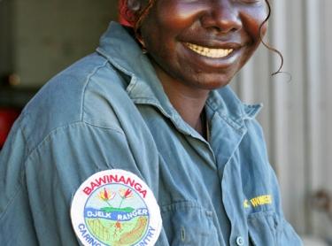 Bawinanga AC, Maningrida. Djelk female ranger Derrelene Yeeindilli Photographer: David Hancock. Copyright: SkyScans.