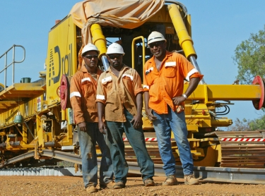 railway across australia - north to south - aboriginal employment
