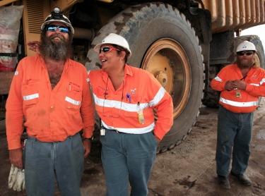 Ranger Uranium Mine, northern territory, australia - haul truck drivers. minerals mining industry equipment transport employment 605926 Photographer: David Hancock Copyright: SkyScans