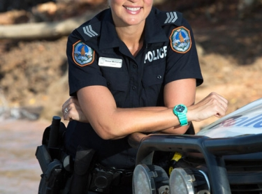 Sgt Renae McGarvie is one of three policewomen stationed at Bathurst Island - she works closely with the Indigenous people to maintain law and safety on the Tiwi Islands