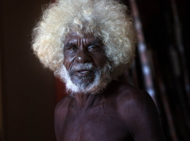 Indigenous artist John Mawurndjul at Maningrida - arts centre and family