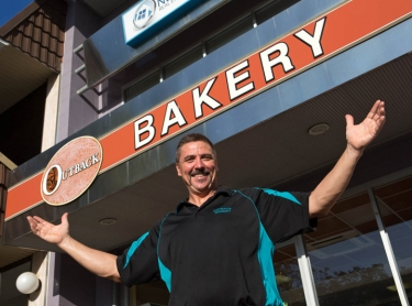 Tim at Outback Bakery Fannie Bay Darwin