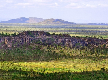 Djelk Indigenous Protected Area covers 673,200 hectares of central Arnhem Land plateau country, woodlands, floodplains and coastal areas out into the Arafura Sea. Sandstone outlier on Top End floodplain.