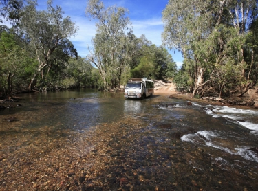 Flying Fox Creek crossing Kakadu NP. Gagudju Dreaming tour operations transport adventure travel outback vehicle 4WD IHG Photographer: David Hancock. Copyright: SkyScans