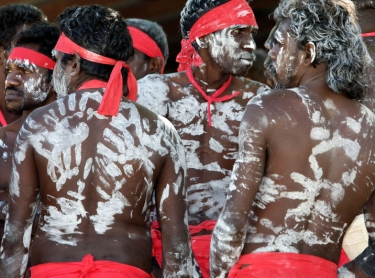 Merrepen arts festival at Daly River, northern territory, australia. aboriginal culture indigenous art and craft sport