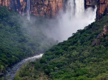 Kakadu National Park in the Top End of northern Australia is one of the world's Heritage areas and a popular destination for tourists from all over the world. Arnhem Land escarpment in the wet season - Jim Jim Falls