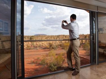 Longitude 131 is an upmarket tourism resort in central australia close to Ayers Rock or Uluru and KataJuta NP red centre Uluru NT