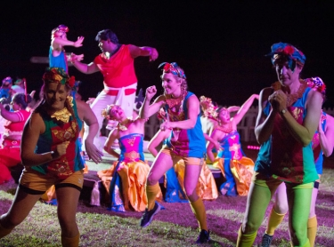 Tracks Dance Company performs In The Blood for its Darwin Festival show in 2018, Botanical Gardens