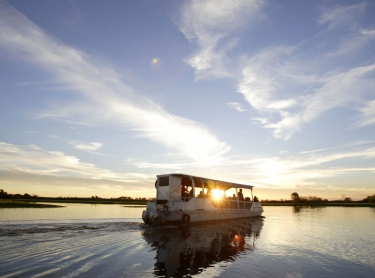Gagudju Lodge, Cooinda. Home of Yellow Water. tourism travel kakadu boat tour wetland sunset. IHG Photographer: david Hancock. Copyright: SkyScans