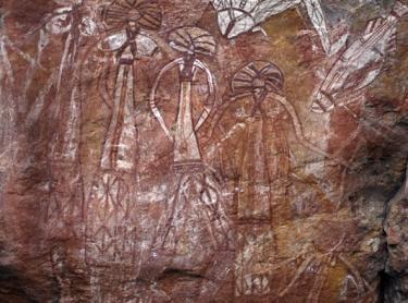 Kakadu National Park - Aboriginal rock art depicting spirit figures - Nourlangie Rock area - indigenous culture Photographer: David Hancock. Copyright: SkyScans.