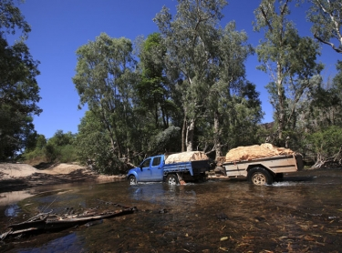 Kakadu National Park - creek crossing in the south of the park - waterway tourism - Paddy McHugh - 4WD vehicle outback transport Photographer: David Hancock. Copyright: SkyScans